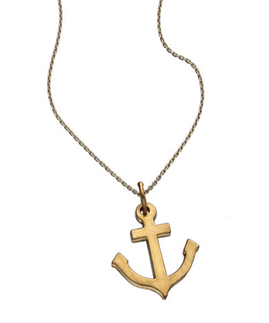 Anchor Necklace The Anchor represent security and stability. Hold it down with this piece either in 14k, vermeil or sterling silver.