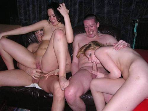 Amateur homemade swinger sex party