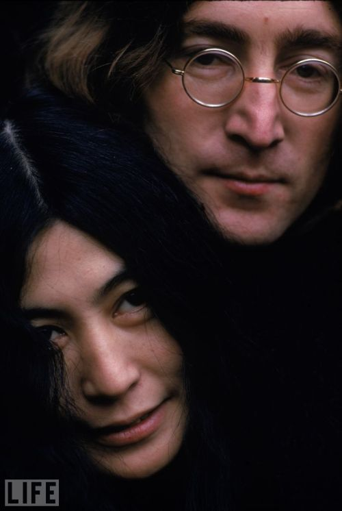 "On this day in 1980, John Lennon was shot and killed by David Chapman.  Singer, songwriter, artist, activist, and pop star… Popular culture has  rarely seen a talent as endlessly captivating as John Lennon. Before  being shot dead by an obsessed fan in New York City in 1980, Lennon  enjoyed enormous commercial and critical success with history's most  famous rock band, The Beatles. Pictured: John and Yoko pose in December 1968. ""As usual, there is a great woman behind every idiot,"" he said. (see more — John Lennon & Yoko Ono)"