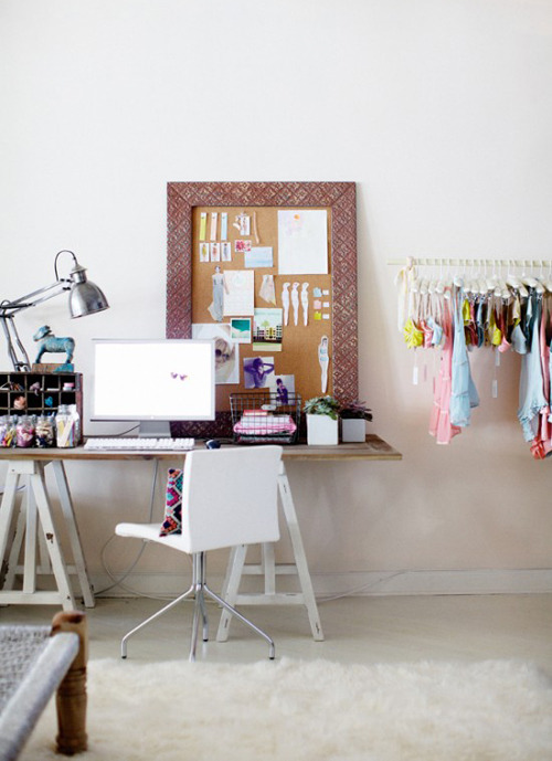 (via inspiring work spaces | the style files)