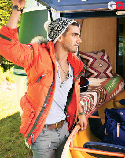 gqfashion:  Urban Outsiders Quick: Make the most of the great outdoors before both you and it are buried in snow. What to pack? J. Edgar star Miles Fisher shows how it's done with rugged clothes that still look killer in the city. See all the looks here.  One kickass picture. Momma, I wanna be that guy! :D  If not, can I at least have his outfit?