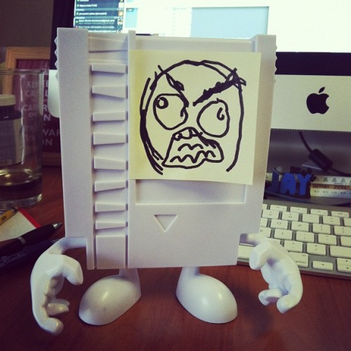 FFFFFFUUUUUUUUUU #vinyltoy #nes #cartridge #rageface #postit #toy #lol #wtf #8bit (Taken with instagram)
