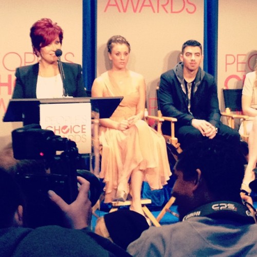 People's Choice Awards nomination ceremony. Oh hello, Joe Jonas & Sharon Osbourne.   (Taken with instagram)