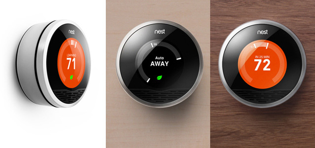Intelligent thermostat learns from user behavior Nest is the world's first self-programming thermostat, designed to save  energy. Once installed, the user answers some simple questions about  heating preferences and habits, and then continues to use the thermostat  as they would normally — for example, turning it down when they leave  the house. Over one week Nest will learn user behaviors and create a  bespoke heating or cooling schedule. READ MORE…