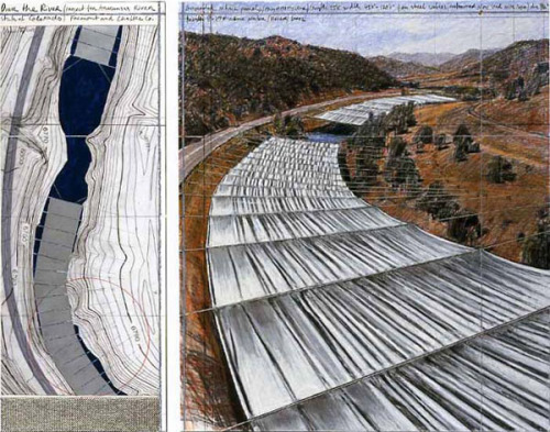 laughingsquid:  Over The River, Christo Plans to Install Fabric Over Arkansas River
