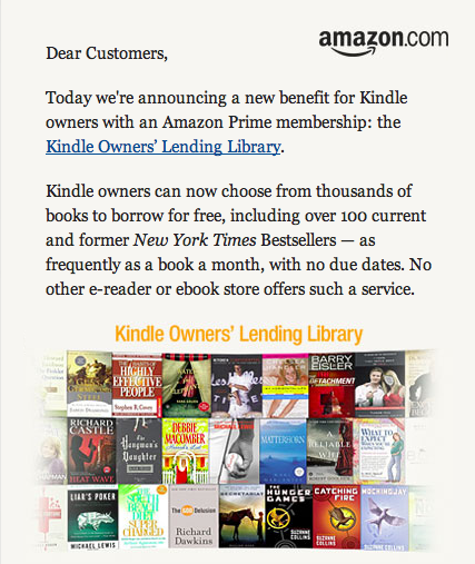 Amazon launches Kindle Owner's Lending Library - now I really want a Kindle!!!!!