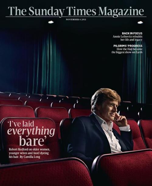 Robert Redford (The Sunday Times, november 2011)