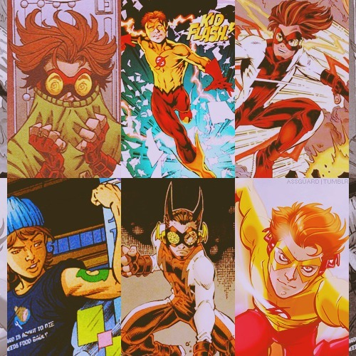 assguard:  six favorite photos ➝ ( bart allen - impulse & kid flash )