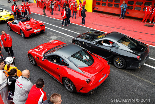 wellisnthatnice:  599 GTO & 458 Spider by Kyter MC on Flickr.