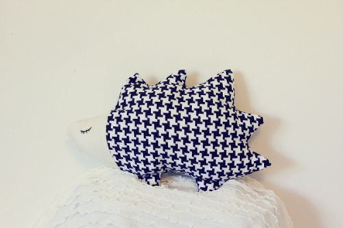 Learn how to make one of these cute little hedgehog plushies!Click here for instructions!