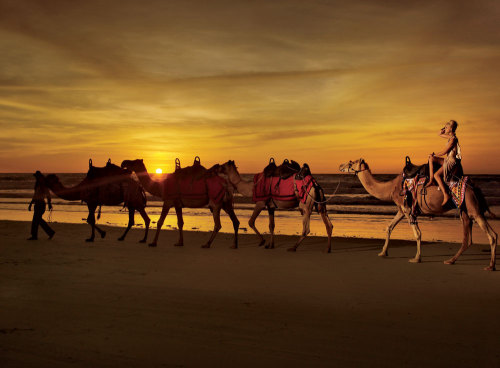 condenasttraveler:  Making Tracks | Broome, Australia  It makes me SO happy to see Conde Nast Traveler on Tumblr.  It is a gorgeous, lush magazine.  It personifies the grandest traditions of journalism, photo journalism and travel writing.  I worked there for six years and will always be honored to have been part of the magazine, however small.  When I was there the publisher was terrified of anything digital so it fills me with so much joy to see them join the Tumblr community!