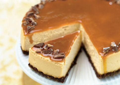 foodfuckery:  Toffee Crunch Caramel Cheesecake Recipe