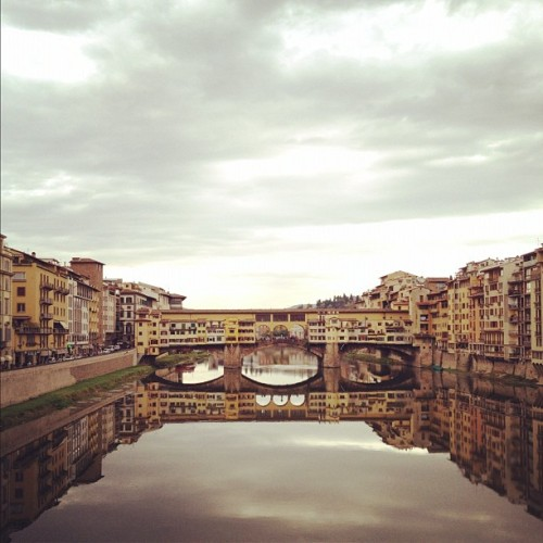 Day #12 of the 2011 Taylor Italiano Tour finds us in Florence. View of the Ponte Vecchio bridge.  (Taken with instagram)