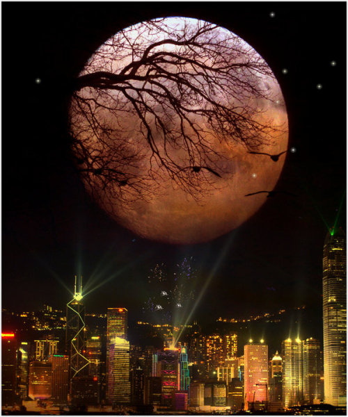 magicalnaturetour:  Moonlight City by *Stroody :)