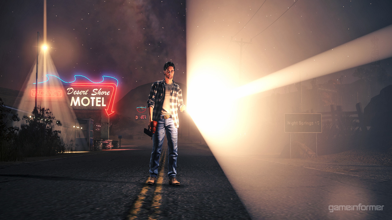 As promised by GameInformer, here is the first screenshot of Alan Wake: Night Springs. This is a new downloadable game that will exclusively feature on Xbox LIVE. The game is to be revealed at this year's VGAs presented by Spike. For more news and features - follow BroGamer. Or feel free to submit a piece, join the Brommunity.