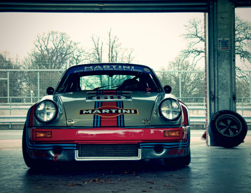 vs-design:  Martini Liveried Porsche 911 RSR, Oulton Park Masters Historic Festival 2011 by _DaveAdams on Flickr.