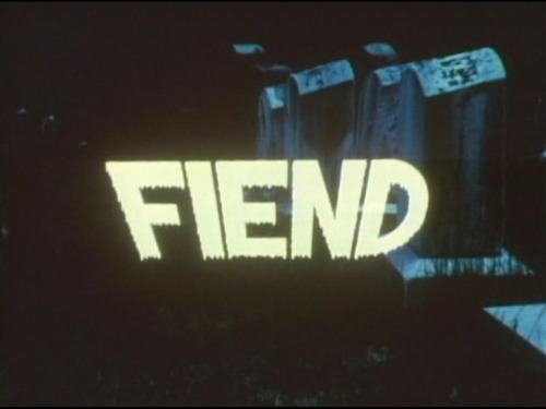 The unstoppable Don Dohler, who brought us The Astral Factor, now presents FIEND. I got a hunch the cast is a lot of the same people.