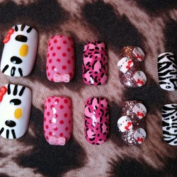 Some Hello Kitty nails for a customer (Taken with instagram)
