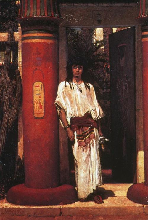 necspenecmetu:  Sir Lawrence Alma-Tadema, Egyptian in his Doorway, 1865