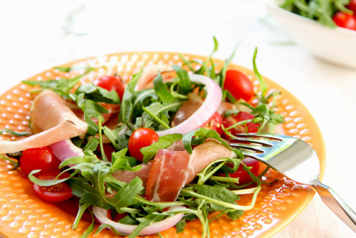 Smokedham & rocket salad  by vanillaechoes on Flickr.