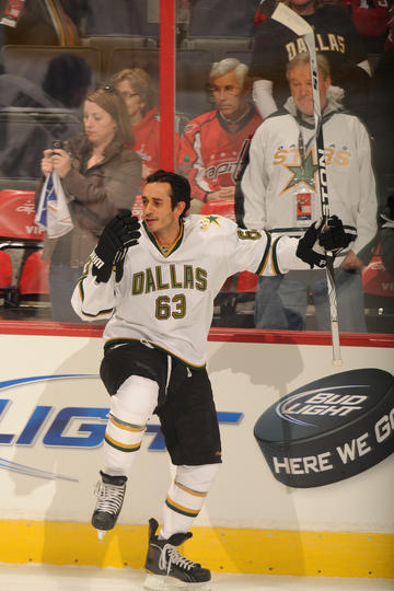 Ribeiro during the warm ups