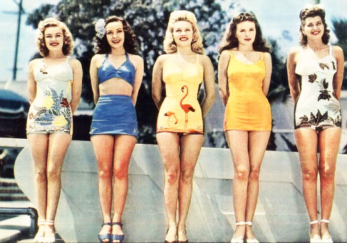 Fox starlets- June Haver, Mary Anderson, Gale Robbins, Jeanne Crain, Trudy Marshall 1943
