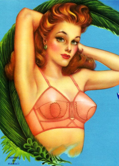vintagegal:  Adola Brassiere ad, illustration by Cardwell Higgins 1940's