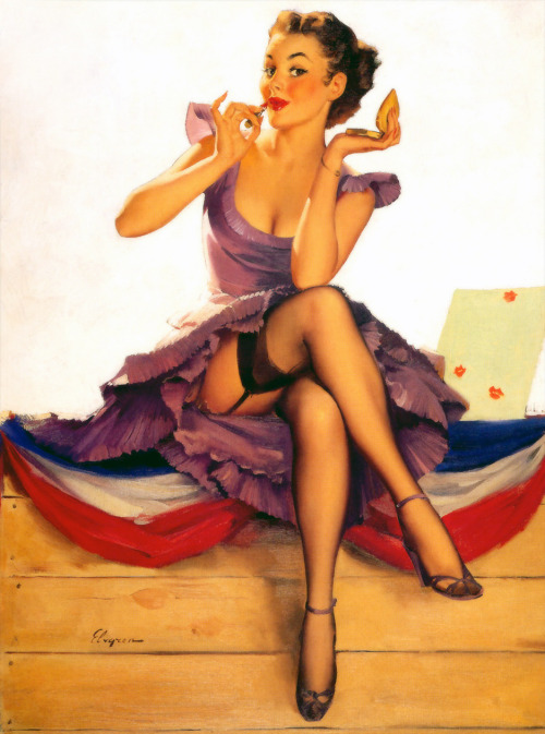 """One For The Money"" by Gil Elvgren 1954"
