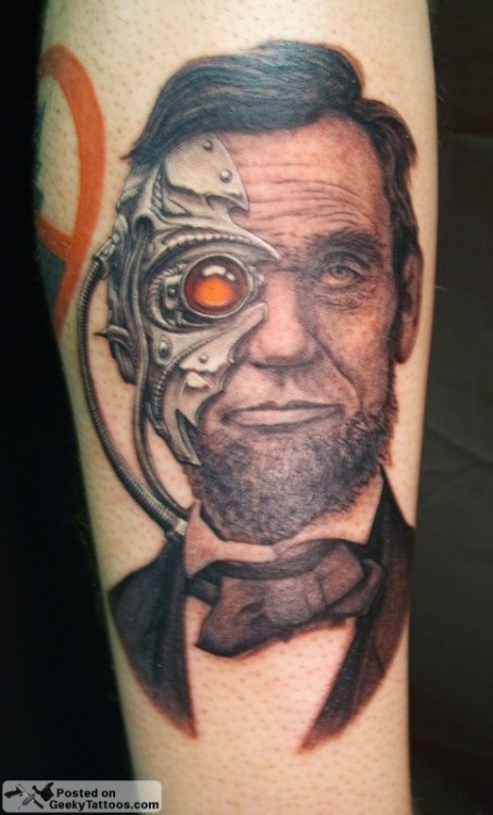 Abe-Borg-ham Lincoln Tattoo via Geeky Tattoos and Geeks Are Sexy