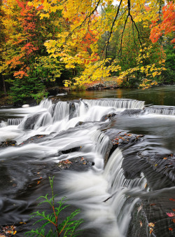 """Autumns Art""  Bond Falls - Paulding , Michigan by Michigan Nut on Flickr.taken by John Mc Cormick"