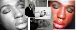 "MADONNA-FEMME GODDESS- JUSTIFY MY LOVE MAKEUP I am currently super excited about the leak of the new Madonna single, ""Give Me All Your Love"". So I decided to do a quick fun makeup look based on one of my favorite Madonna videos, Justify My Love. This look to me is all about being sultry and sexy and owning all off your FEMME power. Madonna is the epitome of sex appeal, controlling your destiny, and being boldly ambitious. So how do you achieve this FEMME-tastic look? The focus here is the brows and the eyes before anything else. After you apply foundation and concealer in the right places, you can get to the details of this particular look.  Brows: Brush brows upward, fill in with a pencil or powder that is slightly lighter than your actual hair color. You want bold but not scary.Be sure to exaggerate the length of the brow a little. Eyes: Prime the lids with lid primer or simply use concealer. Use a deep shade varying from nice chocolates, navys, or even purples on the lid. Following up with a black to create extreme depth in the crease and on the outer corner of the eye. Below the brow use a highlight( personal fave: Vanilla pure pigment from MAC). Take black liquid eyeliner and create a quick precise line. Follow up with mascara, heavy and dark. Line the lower lash line with pencil eyeliner, heavier towards the outer edge. Cheeks:Take powder or cream a few shades darker than your skin and place in the hollows of the cheek to create a contour. You may use the Vanila Pure Pigment by MAC here right below the eyes and directly on the cheekbones for extra highlight, not necessary though. Then take a warm rosy blush place it right on the apples and sweep out towards the hairline. Lips: Fill in lips with a warm shade or slightly natural color. Line with a slightly darker color. Blot excess color off and reapply the lipstick and lip liner. Take a neutral beige gloss and aplly over the lips. Remember to use transculent powder all over and spray with miracle product, MAC Fix +. Product List: Face:  Nars Sheer Glow Foundation (Benares) NARS Powder Foundation (Benares) MAC Prep + Prime Translucent Powder NARS Duo Concealer (Praline/Toffee) Brows and Eyes: NARS Eyeshadow (Bengali, Deep dark chocolate brown)-used on brows and eyes NARS Eyeshadow( Nightclubbing, metallic black) Smashbox Cream Eyeliner (Caviar, black) MAC Eye Kohl (Smolder, black)-AMAZING PRODUCT. MAC Pure Pigment (Vanilla, warm shimmery cream color) -This is a must have for everyone!!! Cheeks: NARS Powder Blush (Dolce Vita, dusty rose color) NARS Powder Eyeshadow (Bengali, dark chocolate brown)- used as contour Lips: NARS Lipstick (Porte Vecchio, deep wine) NARS Eyeliner (Mambo, warm brown)-used as lip liner NARS Lip gloss( Sandpiper, nice beige) NARS Lipstick ( Beautiful Liar, warm coral shade)"