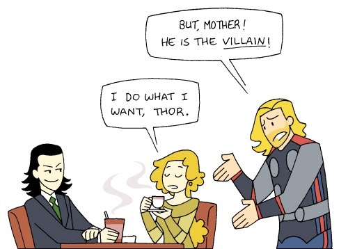 If Mama Frigga wants to visit her baby boy… THEN MAMA FRIGGA IS GONNA VISIT HER BABY BOY.