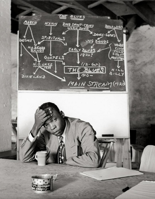 rootsnbluesfestival:  John Lee Hooker, at Music Inn, Stockbridge (MA), ca 1950 -by Clemens Kalischer