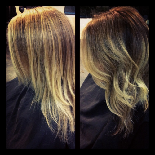 Darker shade of ombré.  Today Wendy came in wanting to deepen her ombré for more contrast.  Loving the result.