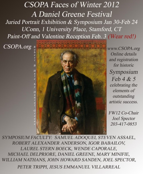 Please come join us at the 'Faces of Winter' 2012 Portrait Symposium