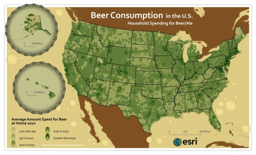 Beer Consumption by ESRI.