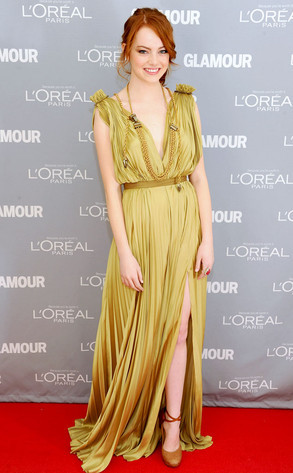 Emma Stone in Lanvin at  Glamour Women of the Year Awards