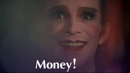 """Money!"" Cabaret (1972) directed by Bob Fosse, starring Liza Minnelli, Michael York and Joel Grey."