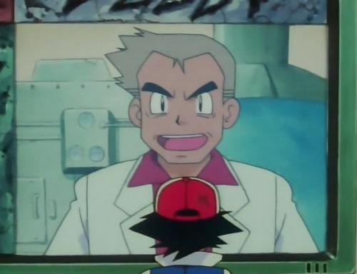 "screenshot from ""Pokemon Emergency"" what a total douche! who gave this guy a PhD anyway? go eat some disgusting pizza, you old asshole."