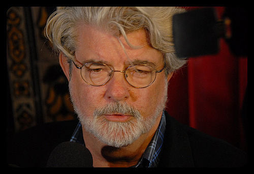 """Goiter? I barely know her!"" is a common joke in George Lucas' neck household."