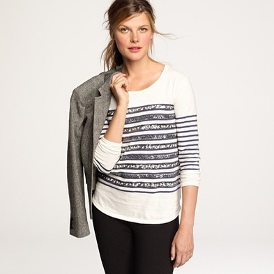 i NEED this jcrew top! sequins+stripes=so me