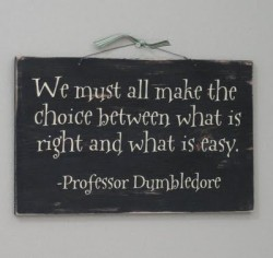 Dumbledore. What a wise man.