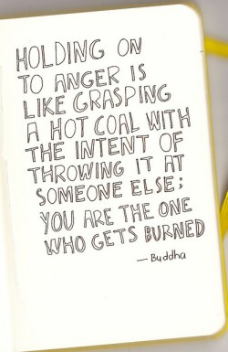 let go of all the anger.