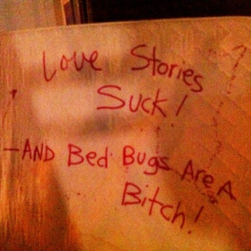 Sweet Dreams #lovestoriessuck #Les #Nyc #bedbugs (Taken with instagram)