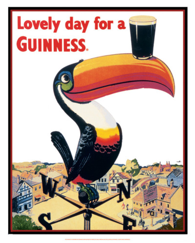 'Snapper31' has a nice little set of 1940s Guinness Advertising prints on his flickr account. Not sure where the Zoo animals fit in, but it's a combination that seemingly works in personalising and making the beer very approachable - contrasting well against other 1940s propaganda WWII posters. Go check them out here.