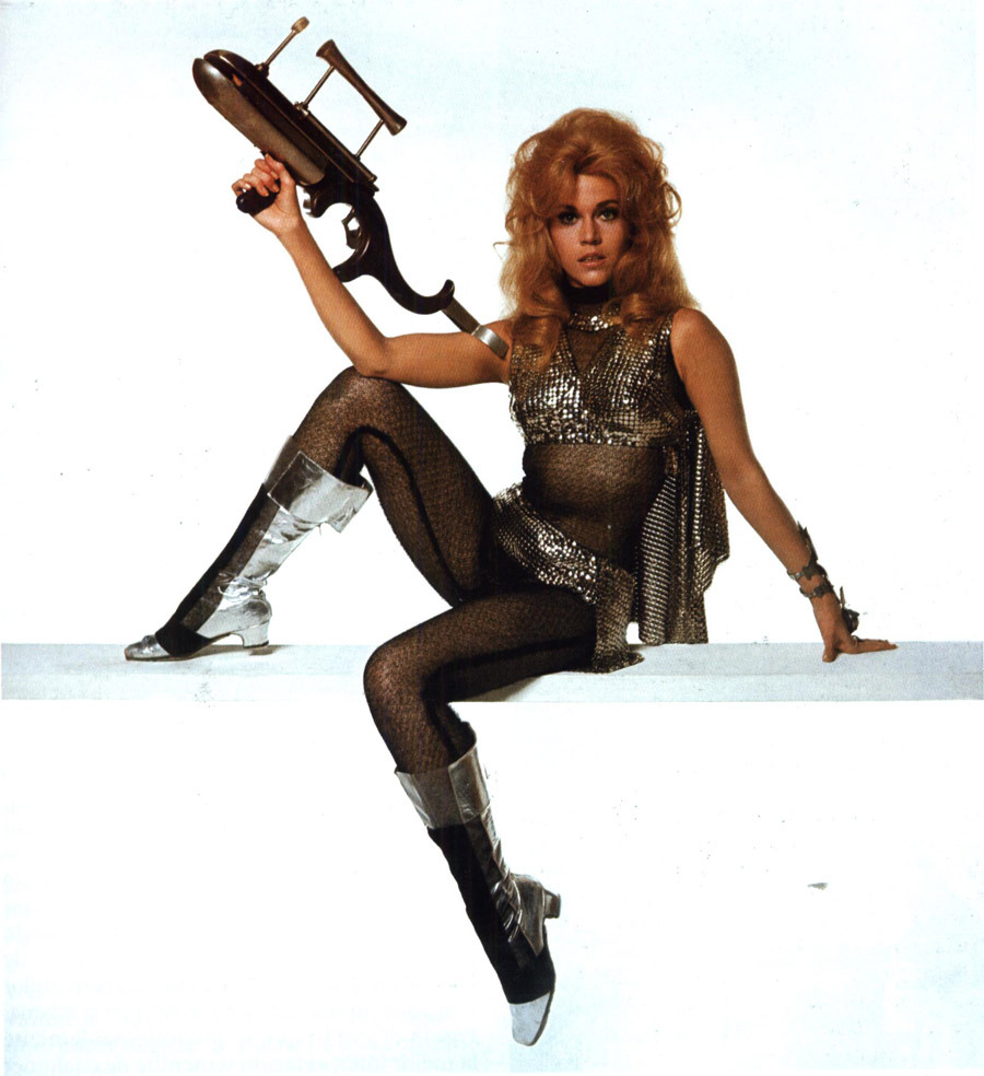 nowthatstasteful:  Jane Fonda  Really want to dress up as Barbarella one day…