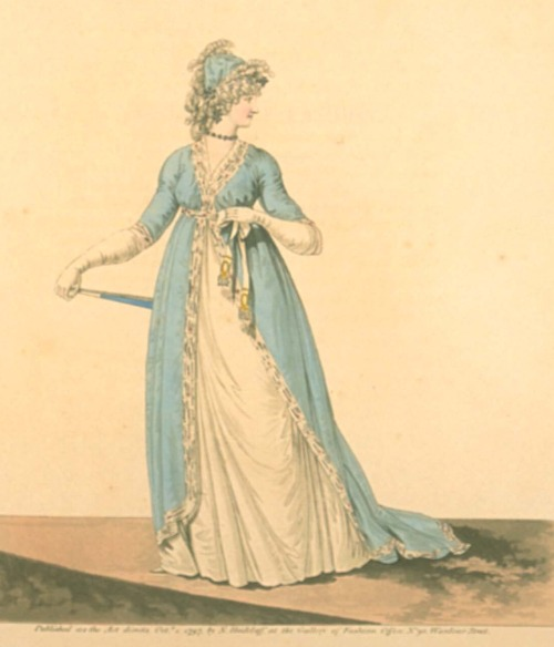 Gallery of Fashion, October 1797.  What a lovely color!