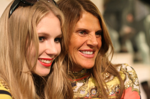 Fashionsquad Carolina Engman and Anna Dello Russo at Tokyo FNO