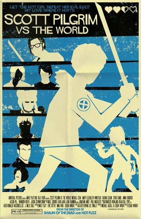 Mark Welser does an amazing Scott Pilgrim vs The World poster. Edgar Wright shares it on his blog. I use my re-posting superpowers for the benefit of all of humankind! So, yeah, that's how that happened. Cool poster. Want one.