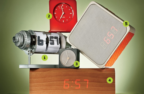As smartphones take over the world, alarm clocks are fading into the well-rested past. We now wake up to ringtones rather than the clatter of a metal hammer; we search for the hard-to-find touch-screen snooze instead of swatting a simple clock-top button. Turn back time and add a bit of ease to your mornings with the alarm clocks of your dreams.